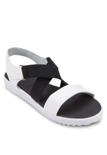 Crizalora 評價cket 交叉繞踝厚底涼鞋, 女鞋, 鞋