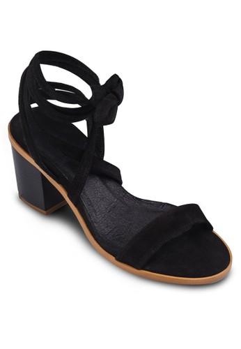 Nomad zalora 評價纏繞踝帶粗跟涼鞋, 女鞋, 鞋