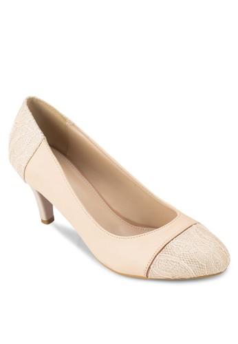 圓頭拼接高跟鞋zalora 評價, 女鞋, 厚底高跟鞋