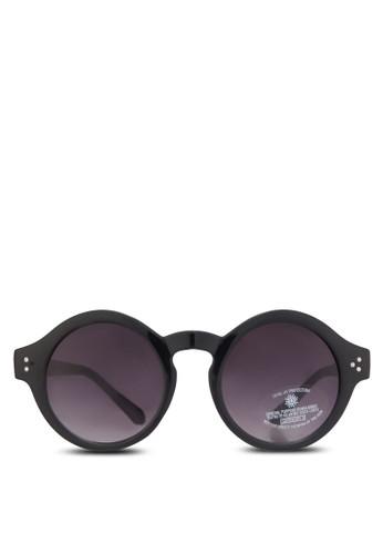 粗圓zalora 鞋評價框太陽眼鏡, 飾品配件, 復古框