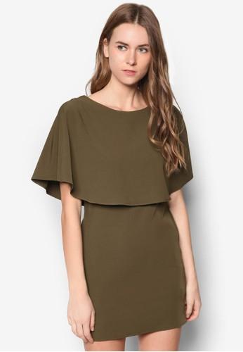 Collectionzalora是哪裡的牌子 Cape Dress, 服飾, 派對洋裝