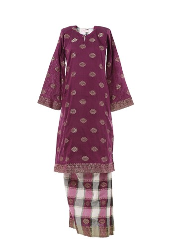 Women's Kurung Pahang Songket Tabur Purple from MOTHER & CHILD in Purple