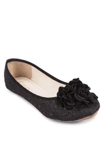 貼花蕾絲平底zalora 評價鞋, 女鞋, 鞋
