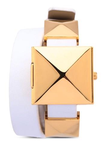 三角錐開zalora 鞋評價蓋纏繞手錶, 錶類, 休閒型