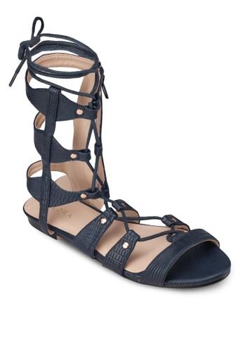 繫帶平底羅馬涼鞋, 女鞋,zalora 台灣門市 涼鞋