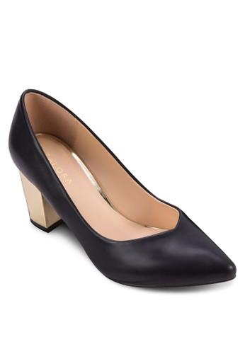 尖頭粗高跟鞋, 女鞋, zalora 心得厚底高跟鞋