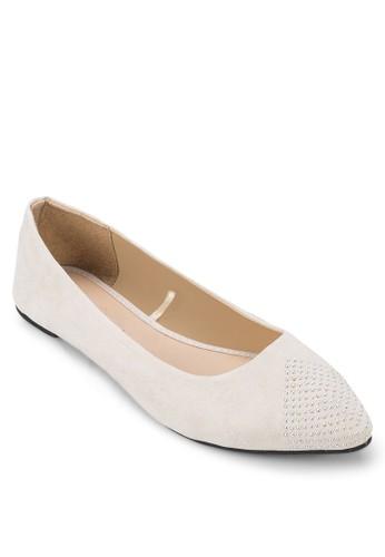 zalora退貨鉚釘尖頭平底鞋, 女鞋, 芭蕾平底鞋