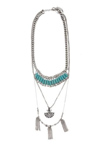 民族風串珠墜飾項鍊, 飾zalora是哪裡的牌子品配件, 飾品配件