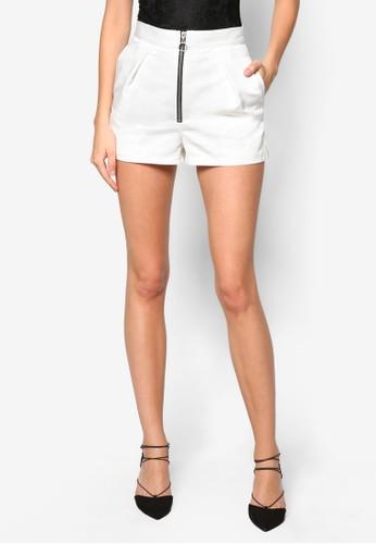 High-Waisted Zip Shorts, topshop台灣代理服飾, 休閒短褲