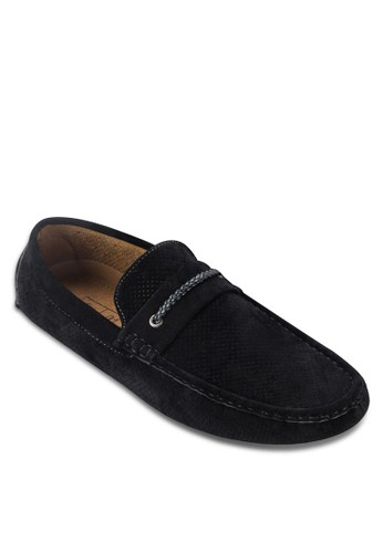 編織繫帶仿麂皮莫卡辛鞋, 鞋, 船型zalora 包包評價鞋