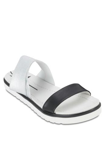 雙色厚底涼鞋, zalora 台灣女鞋, 鞋