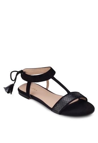 繞踝繫帶平zalora鞋底涼鞋, 女鞋, 涼鞋