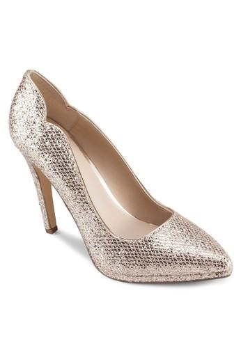 Shiell 金屬感尖頭高跟鞋, 女鞋, zalora 泳衣鞋