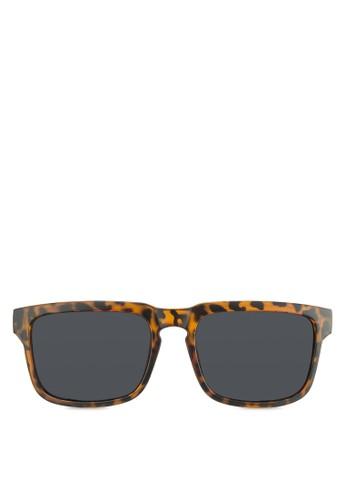 Wayzalora開箱farer 玳瑁方框太陽眼鏡, 飾品配件, 長框