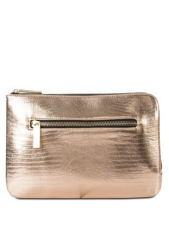 金屬感拉鍊手zalora 衣服評價拿包, 包, 飾品配件