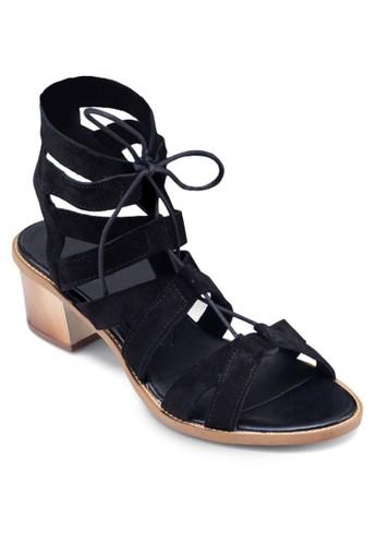 Nifty Ghillzalora 台灣ie 繫帶鏤空中跟涼鞋, 女鞋, 鞋