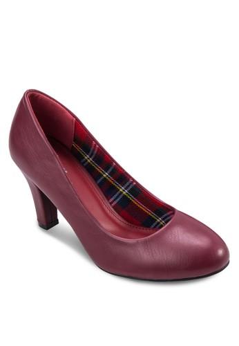 Carla 格紋仿皮高跟鞋, 女鞋, 厚底zalora鞋高跟鞋
