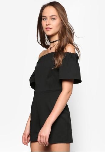 露肩連身褲zalora時尚購物網的koumi koumi, 服飾, 服飾
