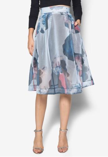 Lily Anne 印花及膝裙, zalora 順豐服飾, 及膝裙