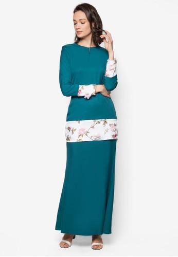 Baju Kurung Modern from Gene Martino in Green