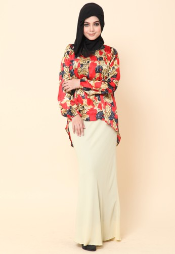Mini Kurung Fishtail Vintage from Dirs in Red