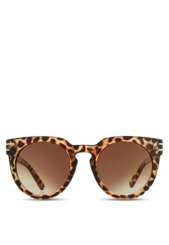 印花圓框太陽眼鏡, 飾品配件, 飾zalora鞋品配件
