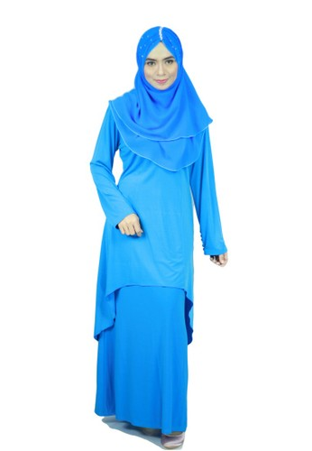 Aleyka Baju Kurung Dodger Blue from anisse in Blue