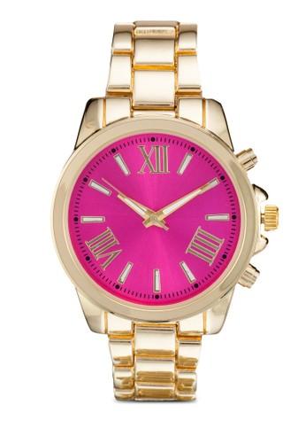 彩色錶zalora 台灣盤不銹鋼圓錶, 錶類, 不銹鋼錶帶