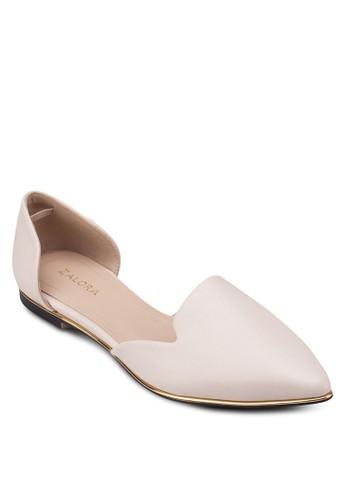 金飾側空平底鞋, 女鞋zalora鞋子評價, 芭蕾平底鞋