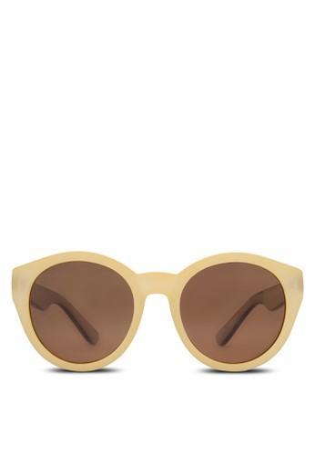 zalora 包包評價復古圓框太陽眼鏡, 飾品配件, 女裝飾品