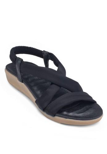 交叉彈性踝帶涼鞋, 女鞋zalora 包包評價, 鞋