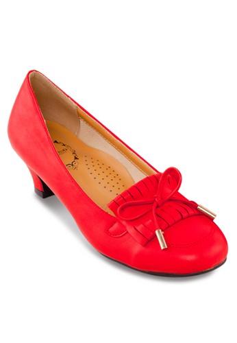 流蘇蝴蝶結中跟淑女zalora 包包 ptt鞋, 女鞋, 鞋