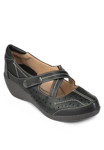 交叉帶zalora 心得厚底休閒鞋, 女鞋, 楔形鞋