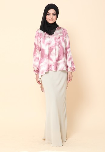 Mini Kurung Fishtail Floral Pink from Dirs in Pink
