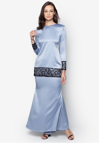 Sahara Kurung Modern from Izzabell Couture in Blue