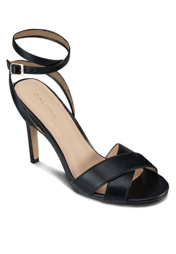 交叉繞踝高跟涼鞋zalora時尚購物網的koumi koumi, 女鞋, 細帶高跟鞋