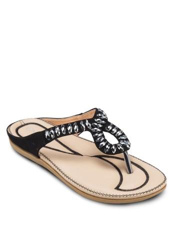 串珠夾腳涼鞋, zalora時尚購物網的koumi koumi女鞋, 涼鞋