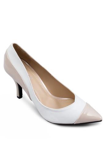 Adelita 雙色尖頭高跟鞋, 女鞋, 厚zalora 評價底高跟鞋