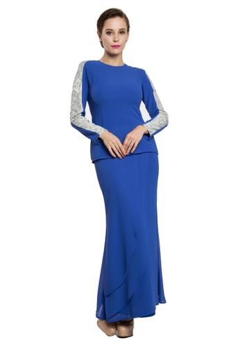 Lurna Kurung Modern from Rina Nichie in Blue