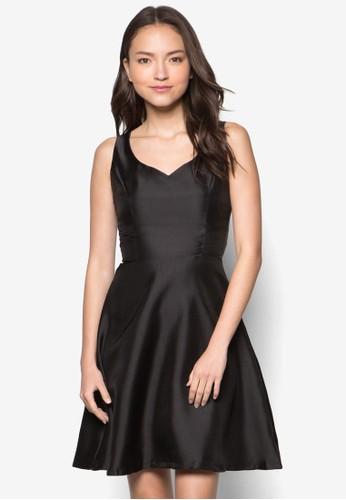 Chantelle 桃心領無袖連身裙,zalora 手錶 評價 服飾, 洋裝