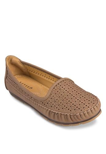 雕花平底懶zalora 評價人鞋, 女鞋, 船型鞋