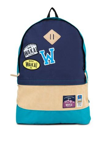 撞色拼接後zalora時尚購物網的koumi koumi背包, 包, 後揹包