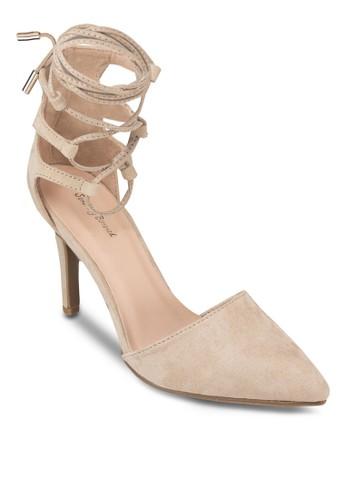 繞踝繫帶尖頭高跟鞋, 女鞋zalora鞋子評價, 鞋