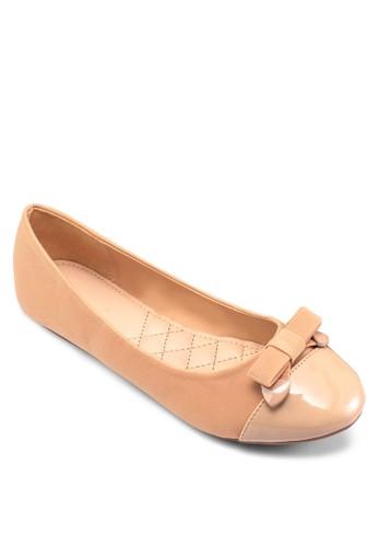 漆皮拼接蝴蝶zalora退貨結娃娃鞋, 女鞋, 鞋