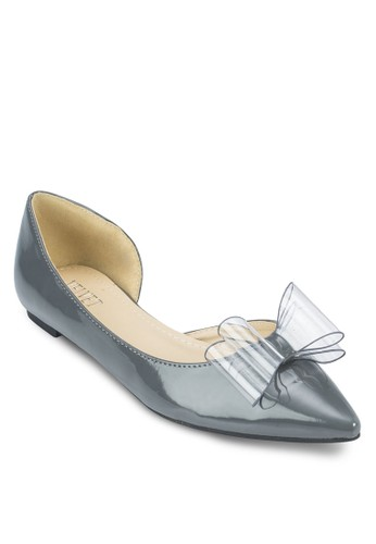 Valarie 側鏤zalora 心得空蝴蝶結尖頭平底鞋, 女鞋, 鞋