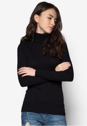 羊毛混紡高領織衫, zalora 心得服飾, 毛衣& 針織外套