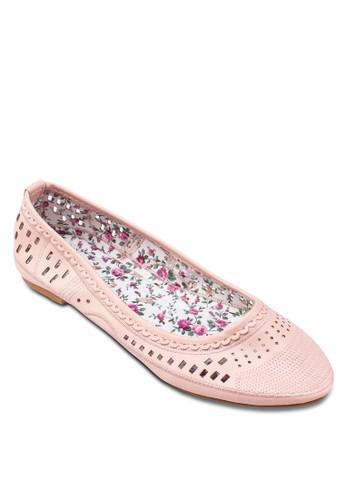 雕花平底鞋,zalora退貨 女鞋, 鞋