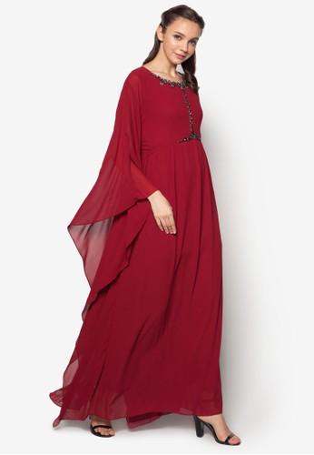 zalora 衣服評價Embellished Kaftan Dress, 服飾, 服飾