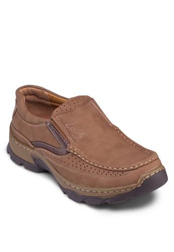沖孔配色厚底樂福鞋,zalora 衣服尺寸 鞋, 鞋