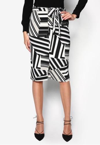 Petzalora taiwan 時尚購物網鞋子ite 印花鉛筆裙, 服飾, 服飾